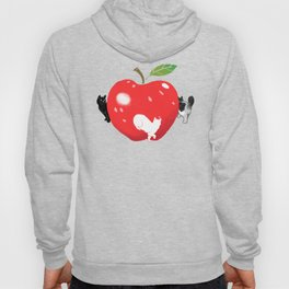 Cats playing around the Apple Hoody