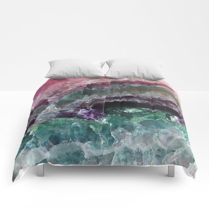 Pink & Green Watermelon Tourmaline Crystal Comforters