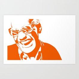 Ray Charles – Orange Art Print