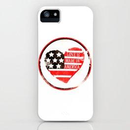 American Love iPhone Case