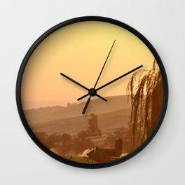 SUNSET OVER EASTERN OREGON Wall Clock