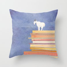 Goat on a Cliff Throw Pillow