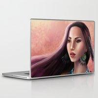 pocahontas Laptop & iPad Skins featuring Pocahontas by SEA Digital Art