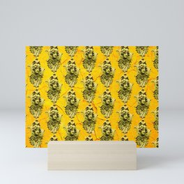 yellow sculptures - texture Mini Art Print