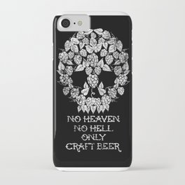 HEAVEN HELL AND CRAFT BEER iPhone Case