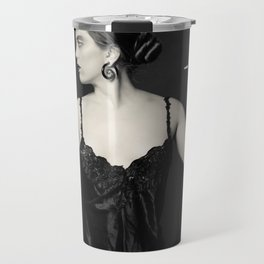 """""""A Noir Night Out"""" - The Playful Pinup - Modern Gothic Twist on Pinup by Maxwell H. Johnson Travel Mug"""