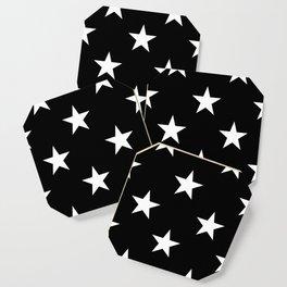 Stars (White/Black) Coaster