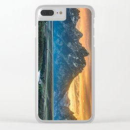 Sunset On Grand Teton And Snake River Clear iPhone Case