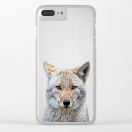 Coyote - Colorful Clear iPhone Case