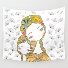 Floral Motherhood Wall Tapestry