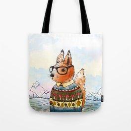 hipsta Squirrel Tote Bag