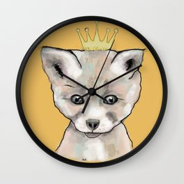 Little King Fox Wall Clock