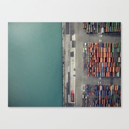 Container terminal Canvas Print