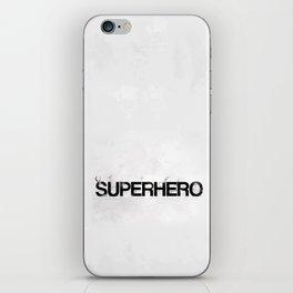 Superhero - gray wallpapers iPhone Skin