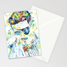 JAMES JOYCE - watercolor portrait.5 Stationery Cards