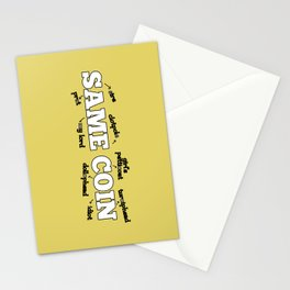 Same Coin - Yellow Stationery Cards