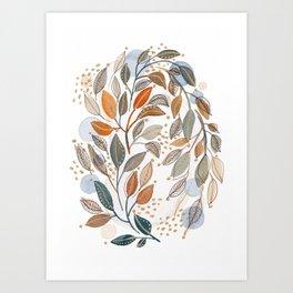Modern watercolor botanicals 4 Art Print
