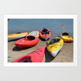 Kayaks - M Art Print