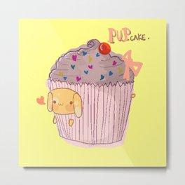 Pupcake Metal Print