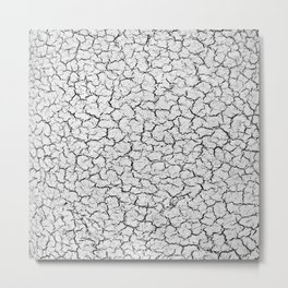 Cracked Abstract Print Texture Metal Print