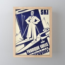 Nostalgie fabrique suisse duniformes costumes ski geneva geneva Framed Mini Art Print