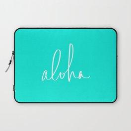Aloha Tropical Turquoise Laptop Sleeve