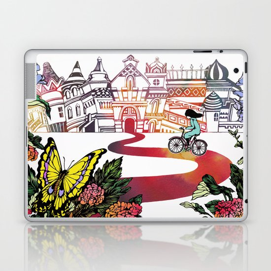 Summer Cycling Laptop & iPad Skin