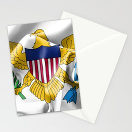 United States Virgin Islands Flag Stationery Cards