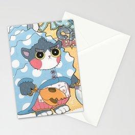 Aqua cat_Puno Stationery Cards
