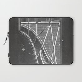 Steinway Piano Patent - Piano Player Art - Black Chalkboard Laptop Sleeve