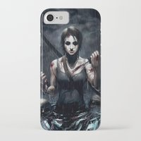 tomb raider iPhone & iPod Cases featuring Tomb Raider by Max Grecke