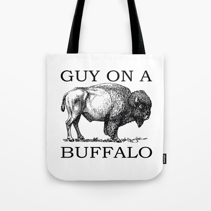 Guy on a Buffalo Tote Bag