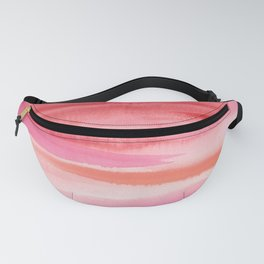 Cherry Stripes Abstract Watercolor Fanny Pack