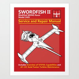 Swordfish Service and Repair Manual Art Print