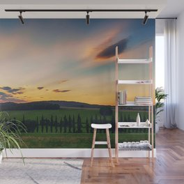 Tuscany, Italy Sunset (Last Glimpse) Wall Mural