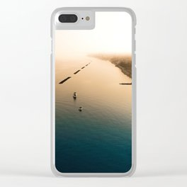 Dust over the city Clear iPhone Case