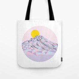 Geometric Mt. Hood Tote Bag
