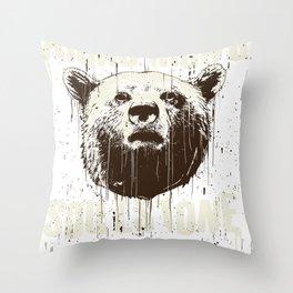 Bear Arm Strong Soul Stone Throw Pillow