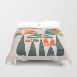 Quirky retro palm trees Duvet Cover