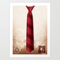 shaun of the dead Art Prints featuring SHAUN OF THE DEAD by VineDesign
