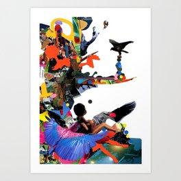 culture clash Art Print