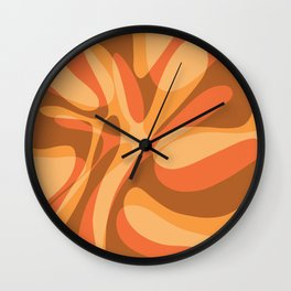 Brown Glass Wave Wall Clock