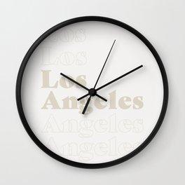 Los Angeles Type - Light Wall Clock