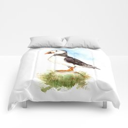 Puffin on a Rock Comforters