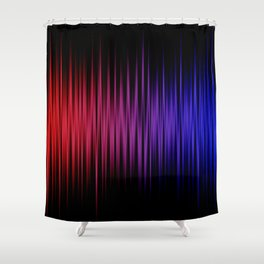 Colorful lines on black background Shower Curtain