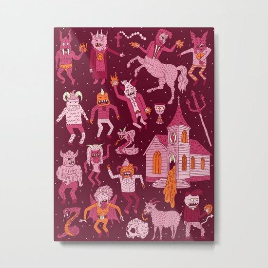 Wow! Demons!  Metal Print