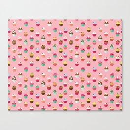 Tasty Cupcake Pattern Canvas Print