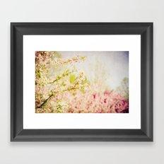 Country Lane Flowers Framed Art Print