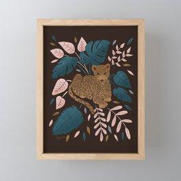 Modern Jungle Leopard Framed Mini Art Print
