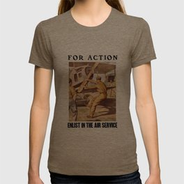 For Action - Enlist In The Air Service T-shirt